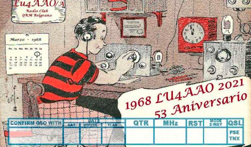 QSL 53º aniversario del Radio Club QRM Belgrano - LU4AAO