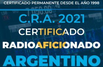 Certificado Radioaficionado Argentino (2021)